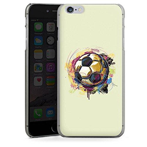 Apple iPhone X Silikon Hülle Case Schutzhülle Fußball Sport Ball Hard Case anthrazit-klar