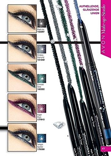 Avon Glimmer Stick Diamonds lápiz de ojos Kajal lápiz Black Ice