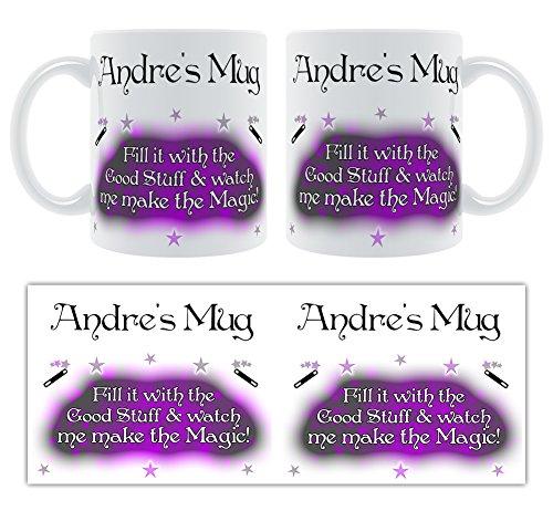 Andre'Becher Befüllen Sie ihn mit dem gut und sieh mich Sie die Magie des Magic Sprays! Tasse-Name, personalisierbar -