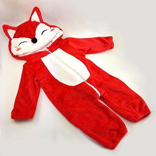 Kostüm witzige Verkleidung, Strampler für Baby und Klein-Kind, mit süßer Stups-Nase und Ohren, Jumpsuit Tierkostüm für Fasching, Karneval