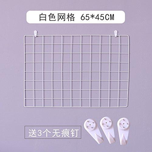 Griglia di ferro pareti foto, bianco ripiano 65*45cm