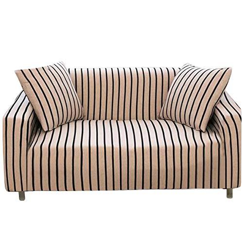 Sqinaa cotone,fodera per divano a righe protettore di animali domestici bambini divano letto cuscino per 1 pezzo morbido divano copre-f tre posti
