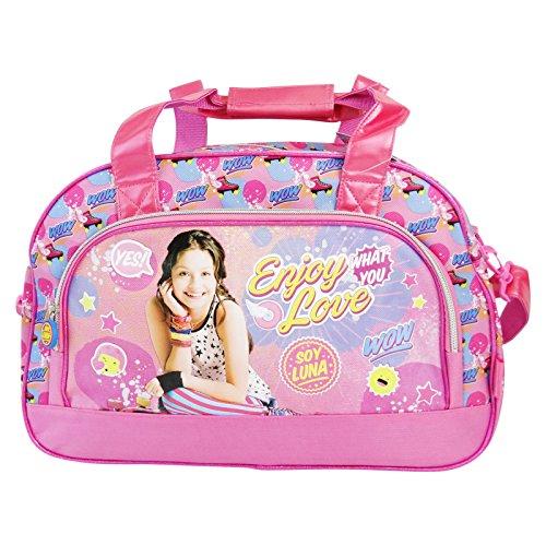 Disney soy luna enjoy love borsa adattabile al trolley sport piscina palestra a spalla con tracolla