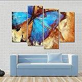 mubgo Leinwandbilder Wohnkultur Wandkunst Rahmen Malerei Poster 4 Panel Schöne Schmetterling Für Wohnzimmer Moderne Hd Gedruckt Leinwand Bilder,40X80X2 40X100X2