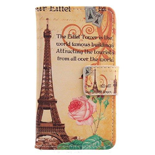 Lankashi PU Flip Leder Tasche Hülle Case Cover Schutz Handy Etui Skin Für Medion Life E5008 MD 60746 5