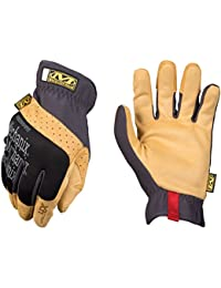 Mechanix Wear - Material4X FastFit Gants (Large, Noir/Marron)
