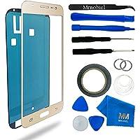 MMOBIEL Kit de Reemplazo de Pantalla Táctil para Samsung Galaxy J5 SM J500 (2015) Oro incluye pantalla de Vidrio / cinta adhesiva de 2 mm / Kit de Herramientas / Limpiador de microfibra / alambre Metálico