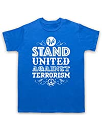 We Stand United Against Terror We Will Never Be Broken Herren T-Shirt