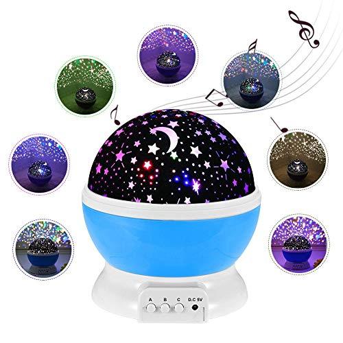 Sternenhimmel Projektor Lampe Kinder, LED Nachtlicht Rotierend mit LED Birnen Timer-Schalter Sky-Star Night Light für Festival Dekoration Geschenk Perfektes für Kinder Geburtstage Halloween usw