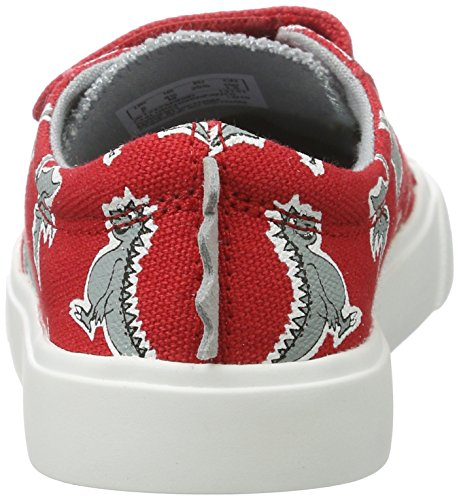 Clarks Jungen Tricer Roar Low-Top Rot (Red Print)