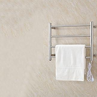 51xMafrXvWL. SS324  - TT Toallero eléctrico toallero baño tendedero de Acero Inoxidable baño toallero toallero Estante Colgante suspendido