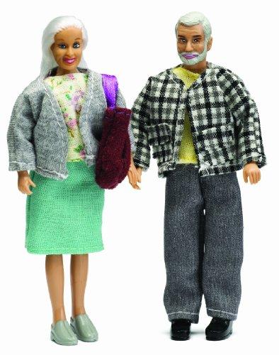 Imagen principal de Lundby 60.8036.00 - Figuras de abuelo y abuela para casita de muñecas [Importado de Alemania]