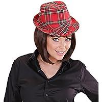 Ska Trilby Hut mit Rauten Muster Fasching Oktoberfest Kostüm Zubehör Hüte