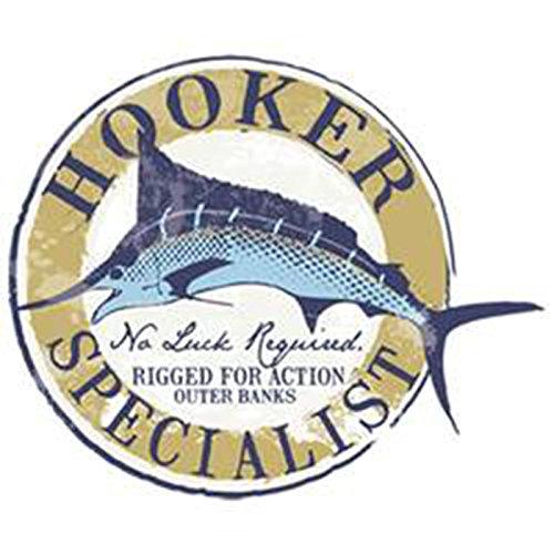 Angler-Langarmshirt/Longsleeve Herren mit Fisch-Druck: Hooker Specialist - lässiger Look Grau