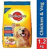 Pedigree Adult Dry Dog Food, Chicken & Vegetables – 1.2 kg Pack