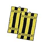 Borussia Dortmund BVB Gästehandtücher mit Blockstreifen Baumwolle Schwarz/Gelb 50 x 30 x 1 cm 2-Einheiten