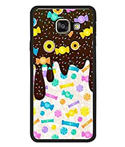 PrintVisa Designer Back Case Cover for Samsung Galaxy A5 (6) 2016 :: Samsung Galaxy A5 2016 Duos :: Samsung Galaxy A5 2016 A510F A510M A510Fd A5100 A510Y :: Samsung Galaxy A5 A510 2016 Edition (Choclate Toffys Candy Brown White Colourful)
