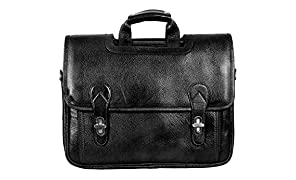 "SCHARF Boston Sebastine Manuscript FileGenuine Leather Crossbody Portfolio 15.6"" Laptop Carrycase Bag AMB102B"