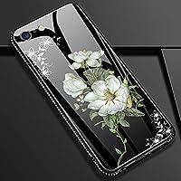 Shinyzone iPhone XS Max 6.5 Zoll Glas Hülle,iPhone XS Max Bling Hülle-[9H Gehärtetes Glas Zurück Hülle] mit Weich... preisvergleich bei billige-tabletten.eu