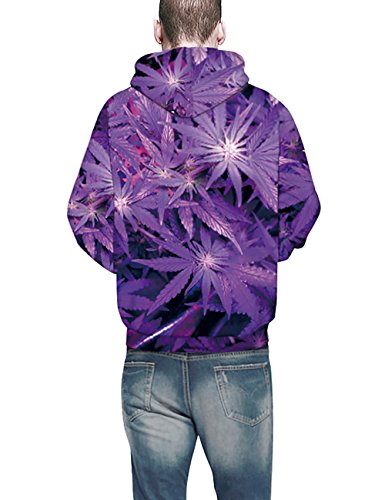 KamiraCoco Herren Pullover Slim Fit Kapuzenpullover 3D Druck Hoodie Weihnachten Langram Sweatshirt Kapuzenjacke Lila