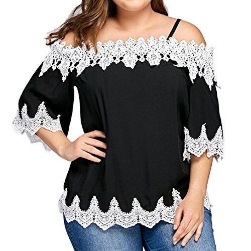 Ohq gilet sexy t-shirt con spalle scoperte e taglia grande da donna camicetta casual a manica corta elegante camicia da donna camicetta donna sexy (xxxxxl)
