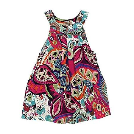 Internet Bébé filles enfants Coton Robes sans manches floral de sangle