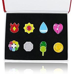 Katara - Pokémon  insignia - Set de 8 medallas de gimnasio