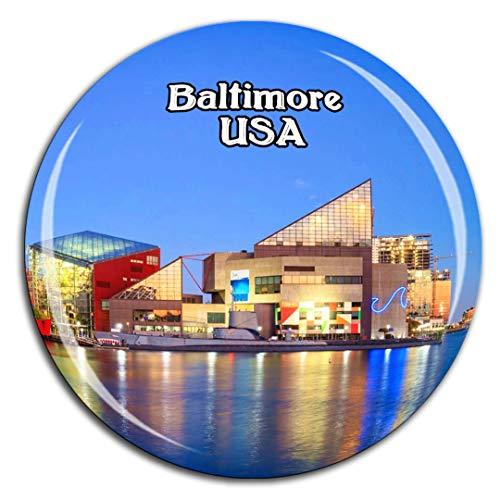 Weekino Baltimore Inner Harbor Amerika USA Kühlschrankmagnet 3D Kristallglas Tourist City Travel Souvenir Collection Geschenk Stark Kühlschrank Aufkleber