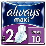 Always Maxi Long Binden Mit Flügeln, Größe2, 10Stück
