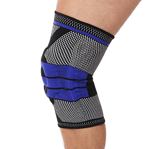 LOKEP Breathable Comfortable Knee Support, Compression Sleeve, Silicone Knee Brace, Knee Pad, Pain Relief 1 Piece 3 Colors Ideal for Men & Women Sports and Daily Wear Test