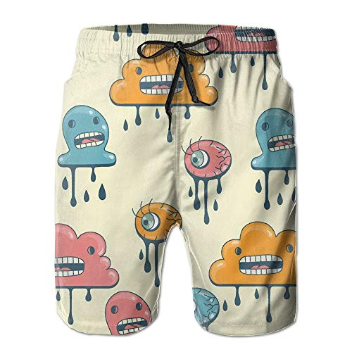 Pillow Socks Man's Cool Monster Weather Quick-Drying Board Shorts Large Cold Weather Running Jacket