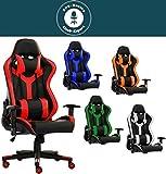 SPS-Racing King Bürostuhl Chefsessel Drehstuhl Schreibtischstuhl Gaming Zocker Stuhl Office Chair (schwarz/rot)