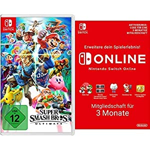 Super Smash Bros. Ultimate [Nintendo Switch] + Switch Online 3 Monate [Download Code]