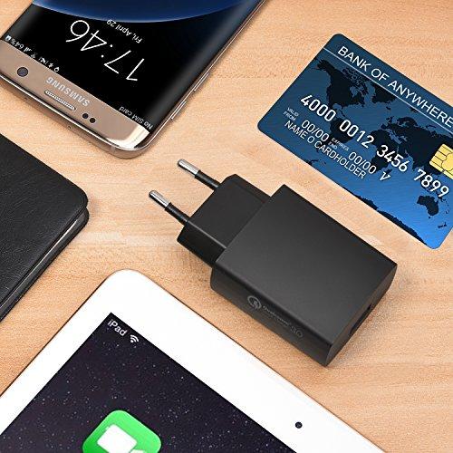 Chargeur-Quick-Charge-30Cble-USB-A-Vers-USB-CCHOETECH-Adaptateur-USB-Rversible-avec-Un-Cble-USB-A-C-pour-galaxy-s8galaxy-s8-plusLG-G6-iPad-Pro-Lumia-950xl950-LG-G5-et-Autres-Appareils-USB-C-Noir