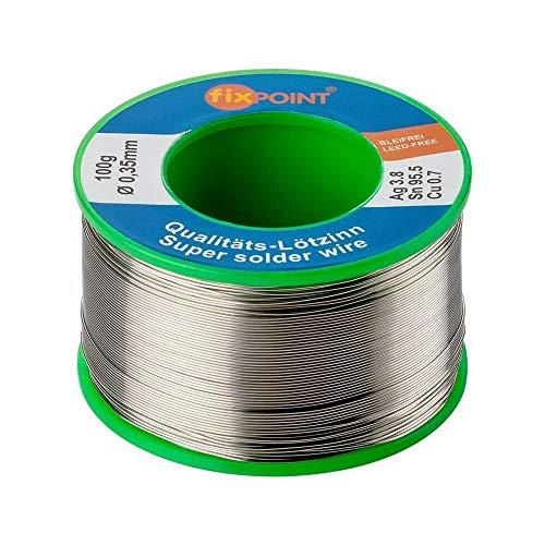 Fixpoint 51131 Lötzinn bleifrei 0,35mm, 100g Rolle (Elektronik Silber-lötzinn Für)