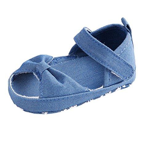Chengyang Bowknot Solas De Walker Verão Crianças Girl Baby Azuis Sapatos Casuais Macias Sapatos rvUzSr