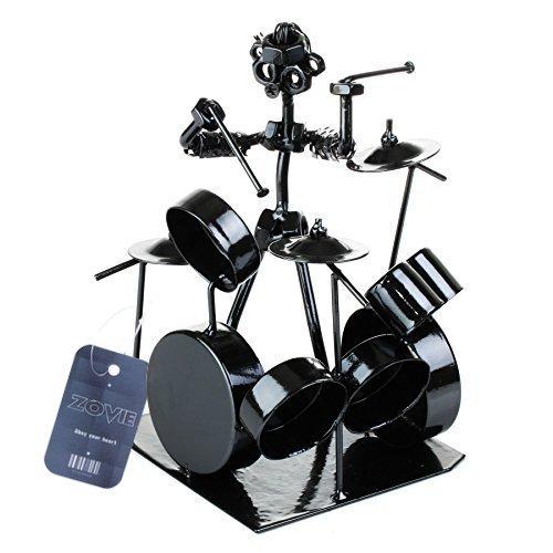 zovie-creative-top-grade-plated-stainless-drummer-drum-set-scultura-in-ferro-battuto-musician-statue