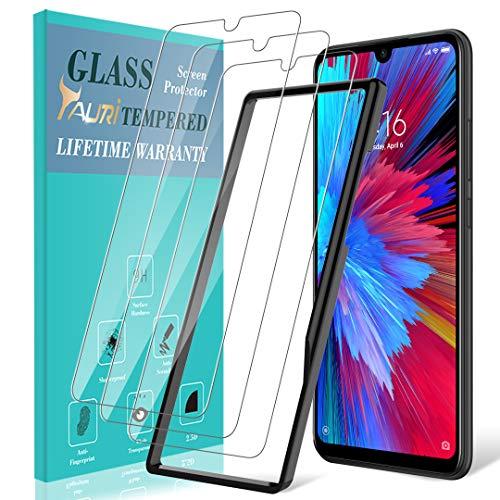 TAURI Schutzfolie Folie für Xiaomi Redmi Note 7 / Redmi Note 7 Pro [3 Stück] [2.5D R&e Kante] [9H Härte] Gehärtetem Glas Folie Hartglas Bildschirmschutzfolie