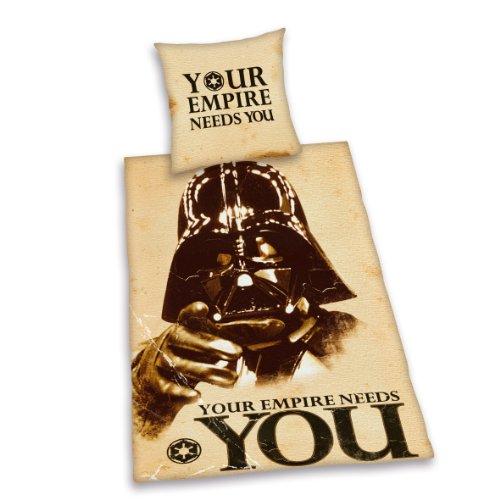 """Herding """"Star Wars Your Empire Needs You"""" 447255050412 Bettwäsche, Kopfkissenbezug 80 x 80 cm und Bettbezug 135 x 200 cm, 100 % Baumwolle, Renforce"""