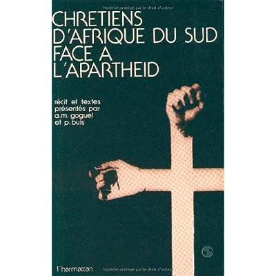 Chrétiens d'Afrique du Sud face à l'apartheid