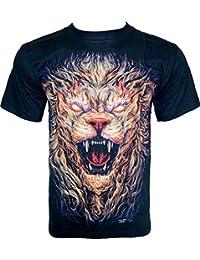 Rock Chang T-Shirt * Hell Monster * Glow In The Dark * Noir GR546