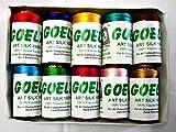 #9: Goelx silk thread for jewellery making, multicolors, for bangle-jhumka making