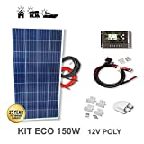 VIASOLAR Kit 150W Eco 12V Panel Solar
