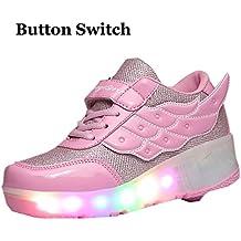 KE unisex ligero respirable del botón de la cautela automática Zapatos Deportes