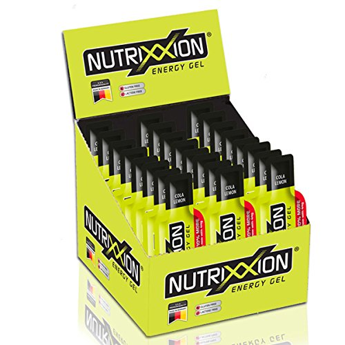 Lemon Gel (NUTRIXXION Energy Gel mit 24 x 44g. Cola-Lemon [40mg Koffein])