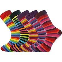 Mysocks® 5 pares de calcetines de hombre Extra fino de algodón peinado sin costura