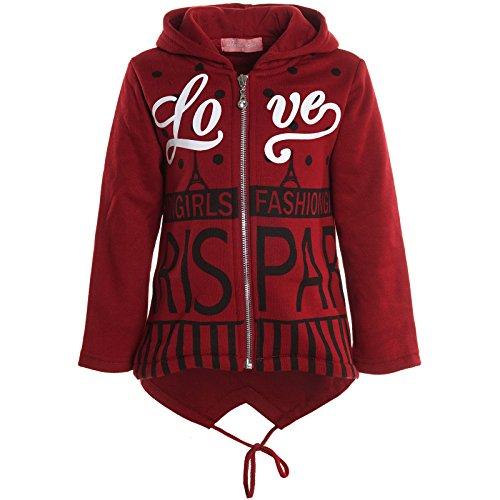 BEZLIT -  Felpa con cappuccio  - Camicia - Collo a U  - Maniche lunghe  - ragazza Rot 10 anni
