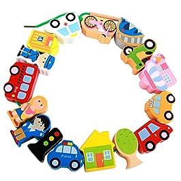 Afunti – Perline da Infilare , Gioco per Bambini in Legno Che stimola Le capacità Cognitive e