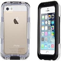 JAMMYLIZARD | Schutzhülle Salamander Waterproof für iPhone 55S, 5C und 4, schwarz