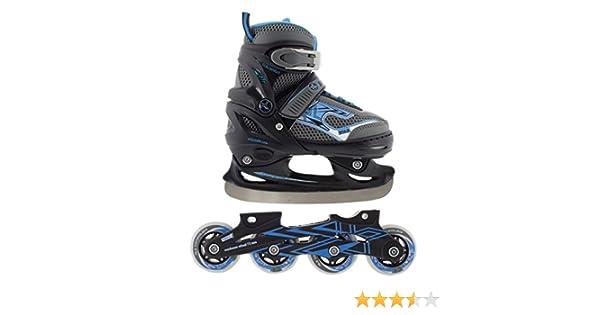 f7934bb741e Inline Skates Kinder Herren Nils Inliner 2in1 Verstellbar Schlittschuhe Größenverstellbar  ABEC7 Lager | Größen 30-41 | Schwarz: Amazon.de: Sport & Freizeit